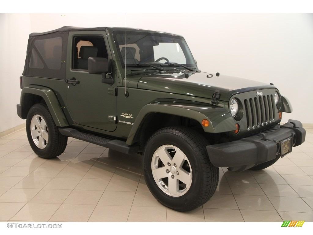 2008 jeep green metallic jeep wrangler sahara 4x4. Black Bedroom Furniture Sets. Home Design Ideas