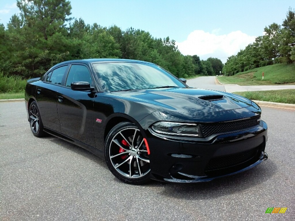 pitch black 2016 dodge charger r t scat pack exterior. Black Bedroom Furniture Sets. Home Design Ideas