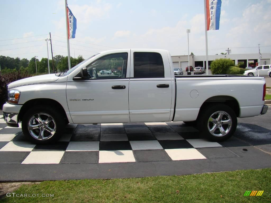 2006 Ram 1500 SLT Quad Cab - Bright White / Medium Slate Gray photo #1