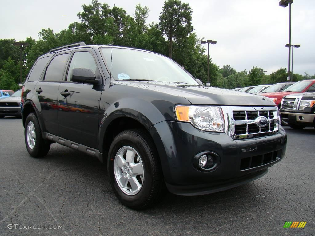 2009 Escape XLT - Black Pearl Slate Metallic / Stone photo #1
