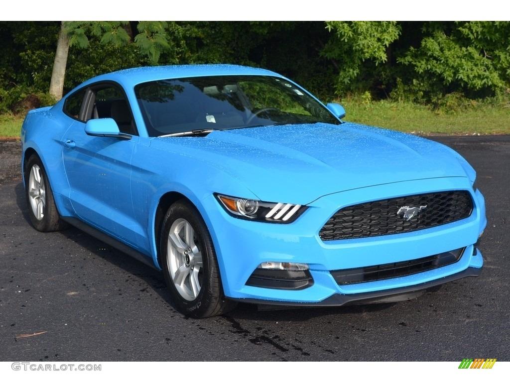 2017 Grabber Blue Ford Mustang V6 Coupe 114326684