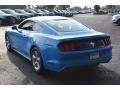 2017 Grabber Blue Ford Mustang V6 Coupe  photo #5