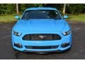 Grabber Blue 2017 Ford Mustang V6 Coupe Exterior