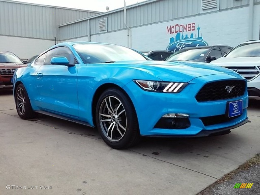 2017 Mustang Ecoboost Coupe - Grabber Blue / Ebony photo #1