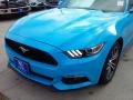 2017 Grabber Blue Ford Mustang Ecoboost Coupe  photo #35