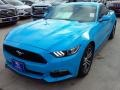 2017 Grabber Blue Ford Mustang Ecoboost Coupe  photo #36