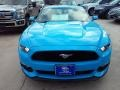 2017 Grabber Blue Ford Mustang Ecoboost Coupe  photo #37