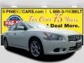 Pearl White 2014 Nissan Maxima 3.5 S