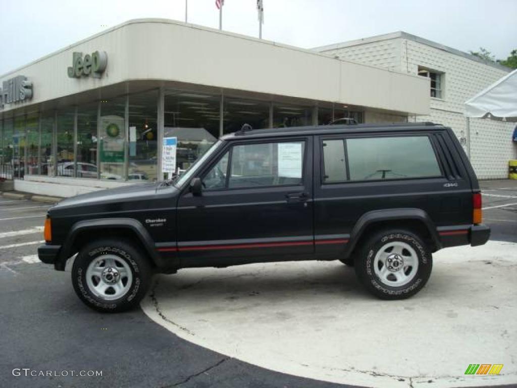 1996 black jeep cherokee sport 4wd #11417341 | gtcarlot - car
