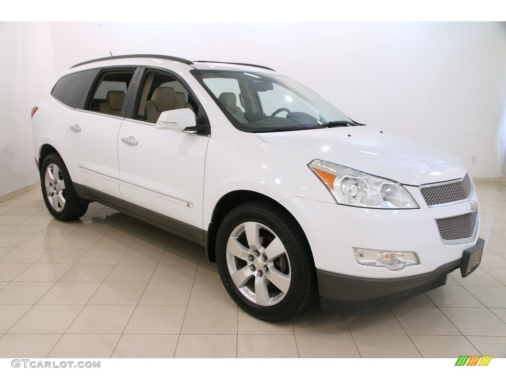 2009 summit white chevrolet traverse ltz awd 114355066 car color galleries. Black Bedroom Furniture Sets. Home Design Ideas