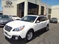 Satin White Pearl 2013 Subaru Outback 2.5i Limited