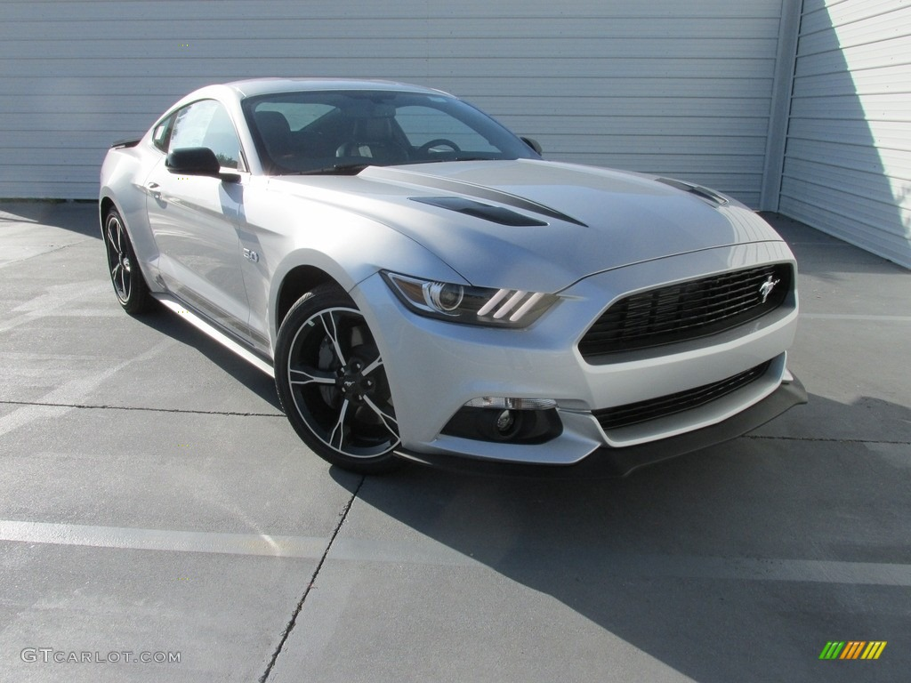 2017 Mustang GT California Speical Coupe - Ingot Silver / California Special Ebony Leather/Miko Suede photo #1