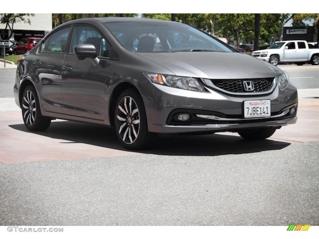 2015 modern steel metallic honda civic ex l sedan for Honda civic modern steel