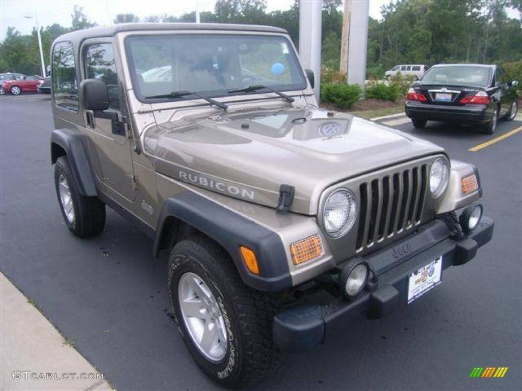2004 Light Khaki Metallic Jeep Wrangler Rubicon 4x4 1141280 Photo 7 Car Color
