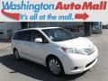 Blizzard White Pearl 2014 Toyota Sienna Limited AWD