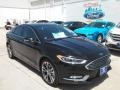 2017 Shadow Black Ford Fusion Titanium  photo #1