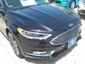 2017 Shadow Black Ford Fusion Titanium  photo #2