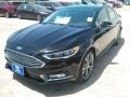 2017 Shadow Black Ford Fusion Titanium  photo #7