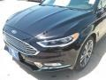 2017 Shadow Black Ford Fusion Titanium  photo #8