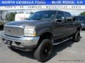 2002 Dark Shadow Grey Metallic Ford F250 Super Duty Lariat Crew Cab 4x4  photo #1