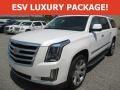 Crystal White Tricoat 2016 Cadillac Escalade ESV Luxury 4WD