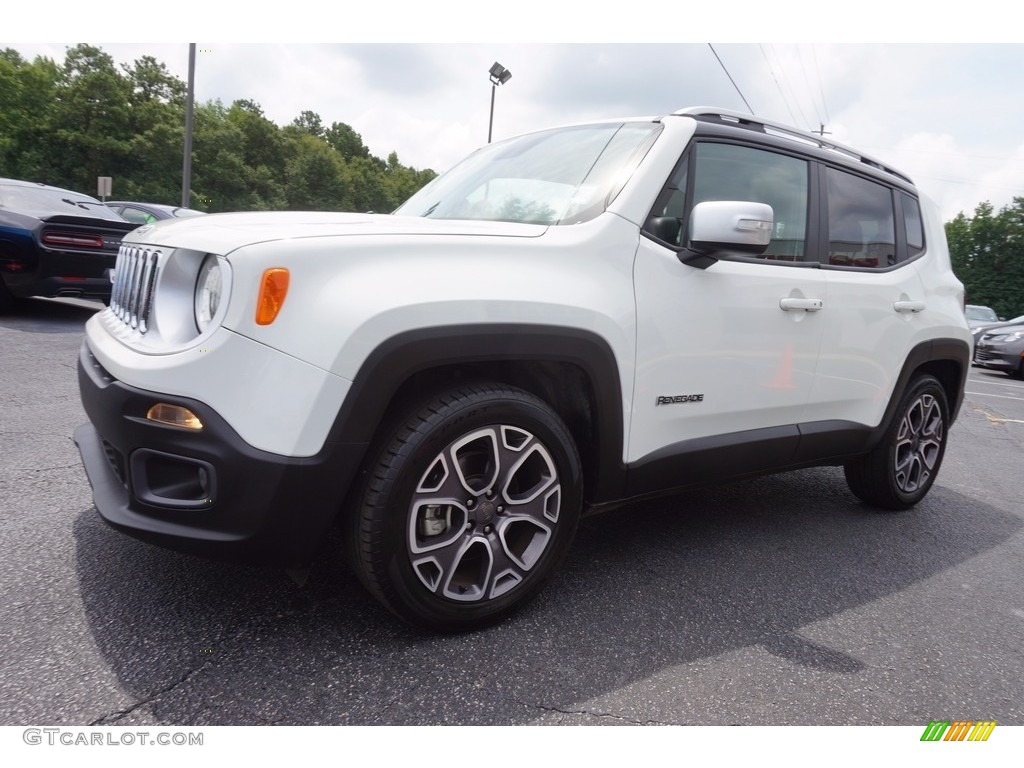 2016 Renegade Limited - Alpine White / Black photo #3
