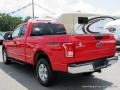 2016 Race Red Ford F150 XLT SuperCab 4x4  photo #3