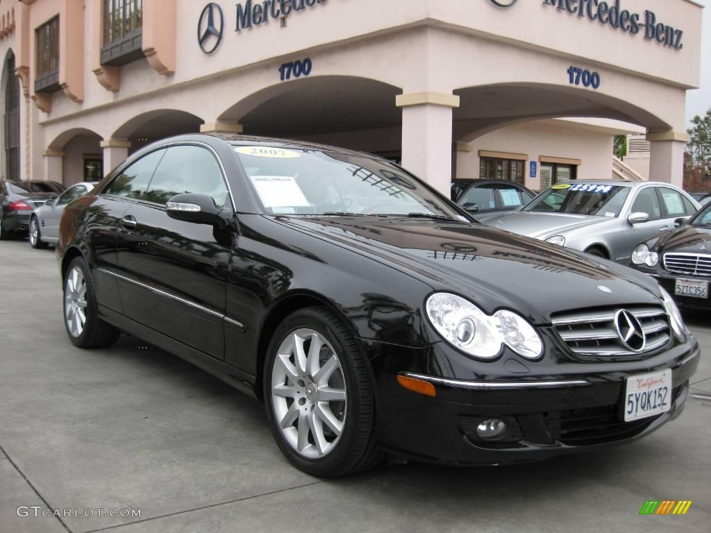 2007 obsidian black metallic mercedes benz clk 350 coupe for 2007 mercedes benz clk
