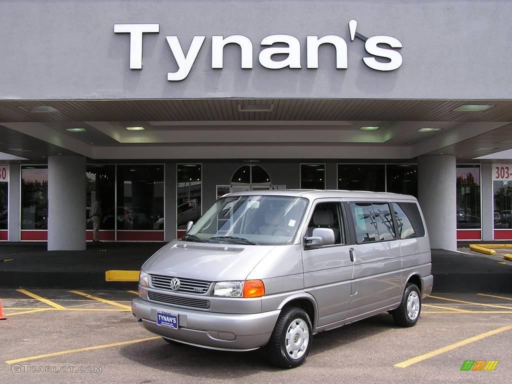 Silver gray volkswagen eurovan