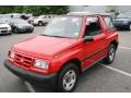 Wildfire Red 1997 Geo Tracker Soft Top 4x4