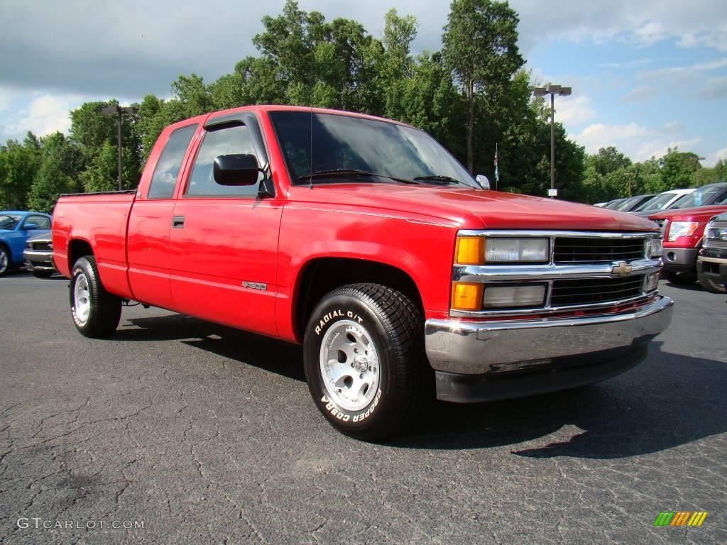 1994 Victory Red Chevrolet C K C1500 Extended Cab