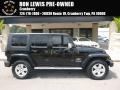 Black 2008 Jeep Wrangler Unlimited Sahara 4x4
