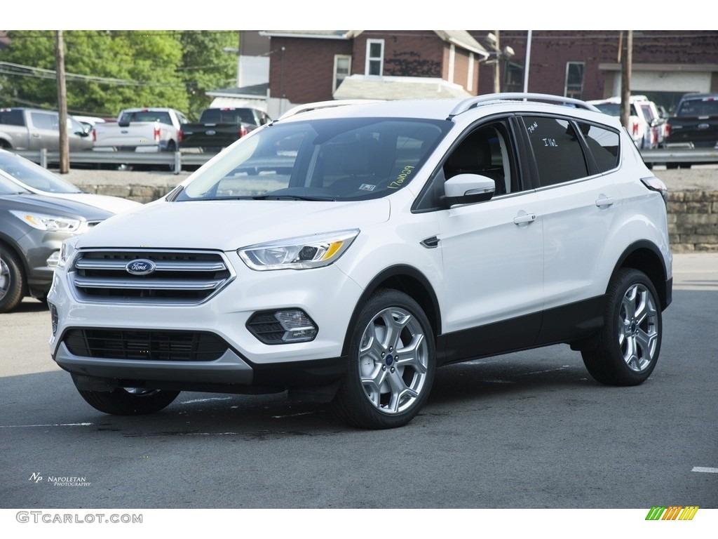 2017 white platinum ford escape titanium 4wd 114623956 car color galleries. Black Bedroom Furniture Sets. Home Design Ideas