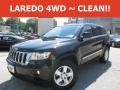 Brilliant Black Crystal Pearl 2012 Jeep Grand Cherokee Laredo 4x4