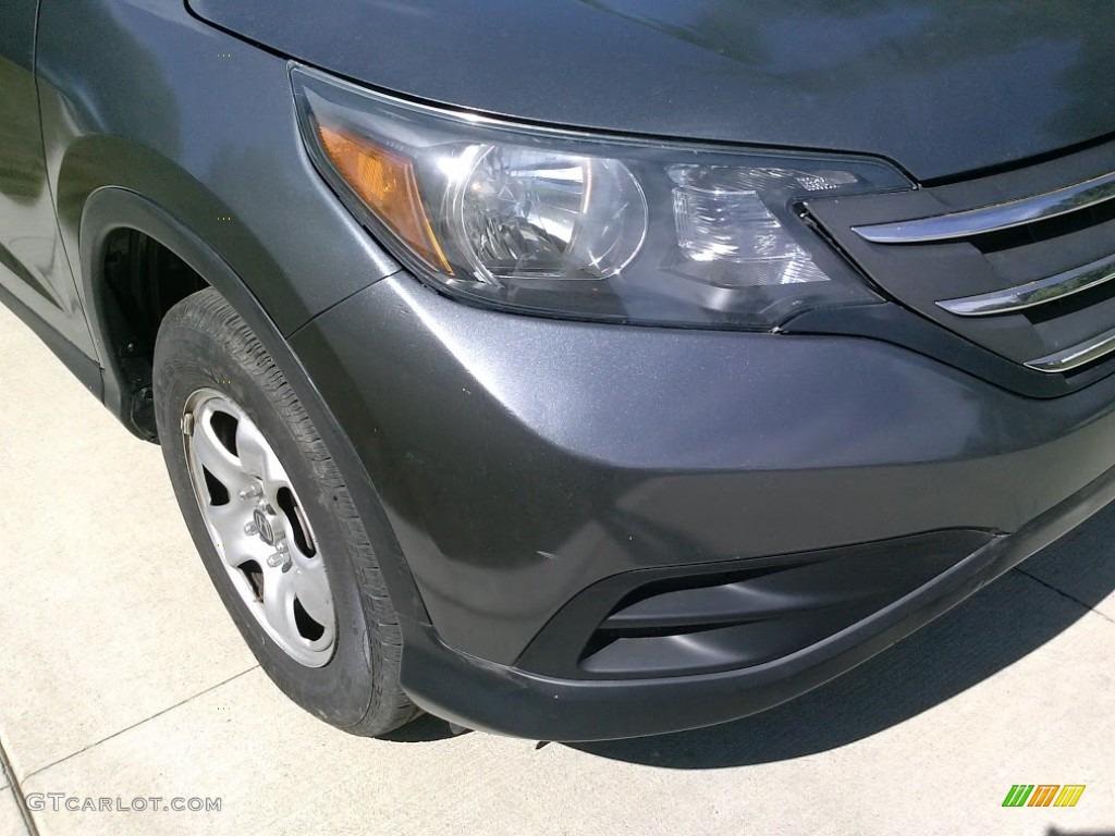 2014 CR-V LX AWD - Polished Metal Metallic / Gray photo #5