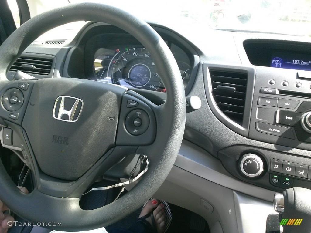 2014 CR-V LX AWD - Polished Metal Metallic / Gray photo #7