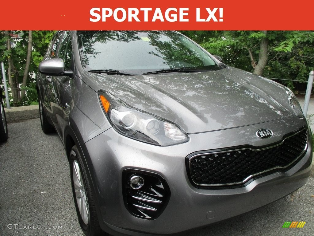 2017 Sportage LX AWD - Mineral Silver / Black photo #1