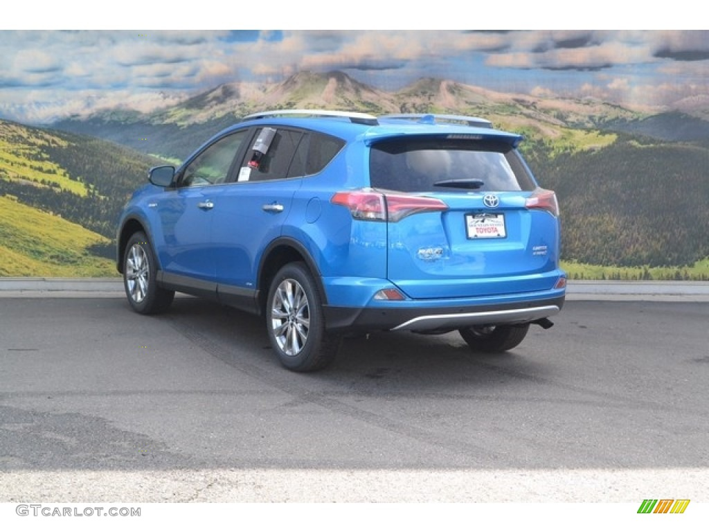 2016 Electric Storm Blue Toyota Rav4 Limited Hybrid Awd