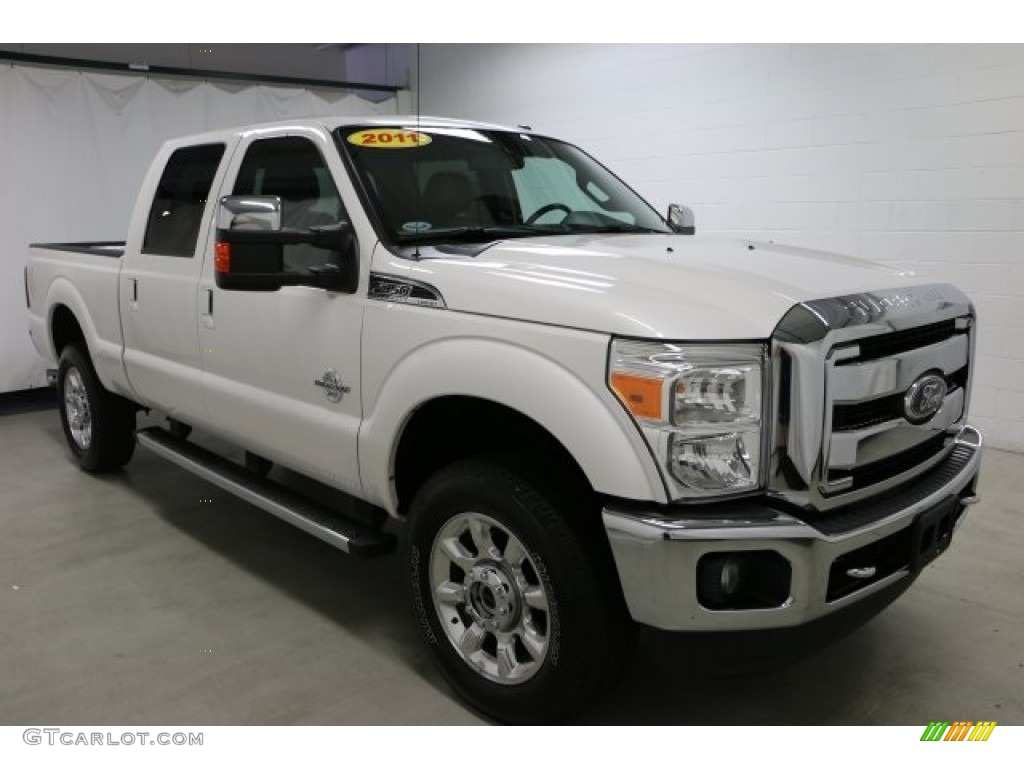 2011 white platinum tri coat metallic ford f350 super duty. Black Bedroom Furniture Sets. Home Design Ideas