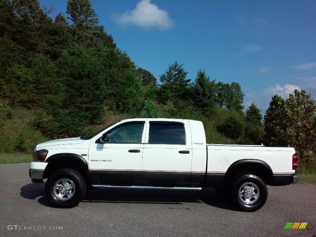 2007 Bright White Dodge Ram 1500 Slt Mega Cab 4x4 114815709 Gtcarlot Com Car Color Galleries