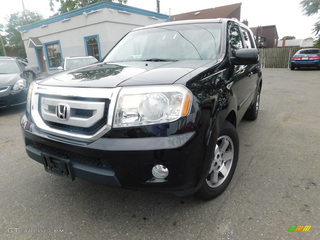 2010 crystal black pearl honda pilot touring 4wd for Black honda pilot