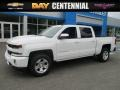 2016 Summit White Chevrolet Silverado 1500 LT Crew Cab 4x4  photo #1