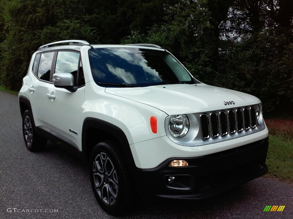 2016 Renegade Limited 4x4 - Alpine White / Black photo #7