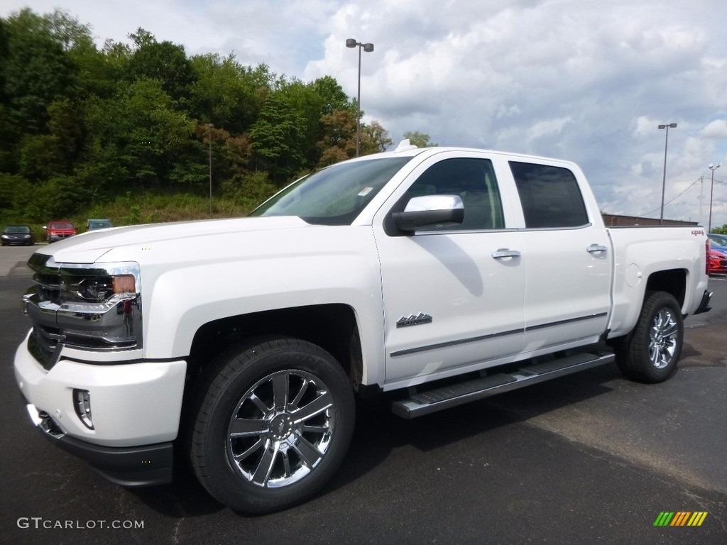 Iridescent Pearl Tricoat 2017 Chevrolet Silverado 1500 High Country Crew Cab 4x4 Exterior Photo #114989252