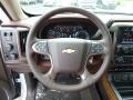 2017 Chevrolet Silverado 1500 High Country Saddle Interior Steering Wheel Photo