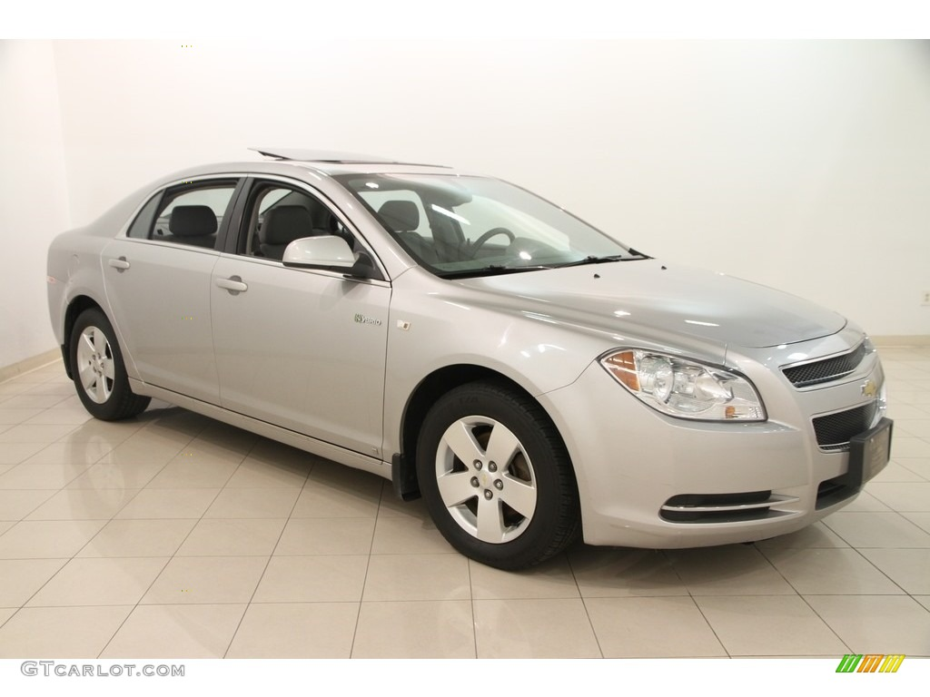 2008 silverstone metallic chevrolet malibu hybrid sedan 115047659 photo 4 car. Black Bedroom Furniture Sets. Home Design Ideas