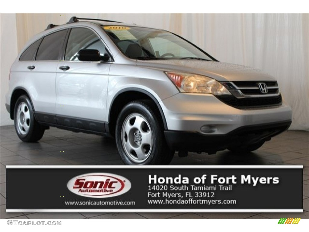 2010 CR-V LX AWD - Alabaster Silver Metallic / Gray photo #1
