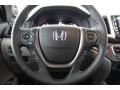 2016 Honda Pilot Gray Interior Steering Wheel Photo