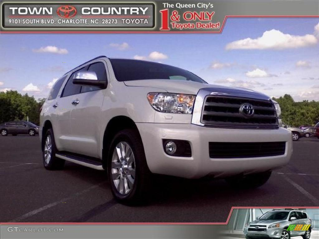 2008 arctic frost pearl toyota sequoia platinum 11506199. Black Bedroom Furniture Sets. Home Design Ideas