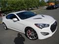 2013 Monaco White Hyundai Genesis Coupe 3.8 Track  photo #3